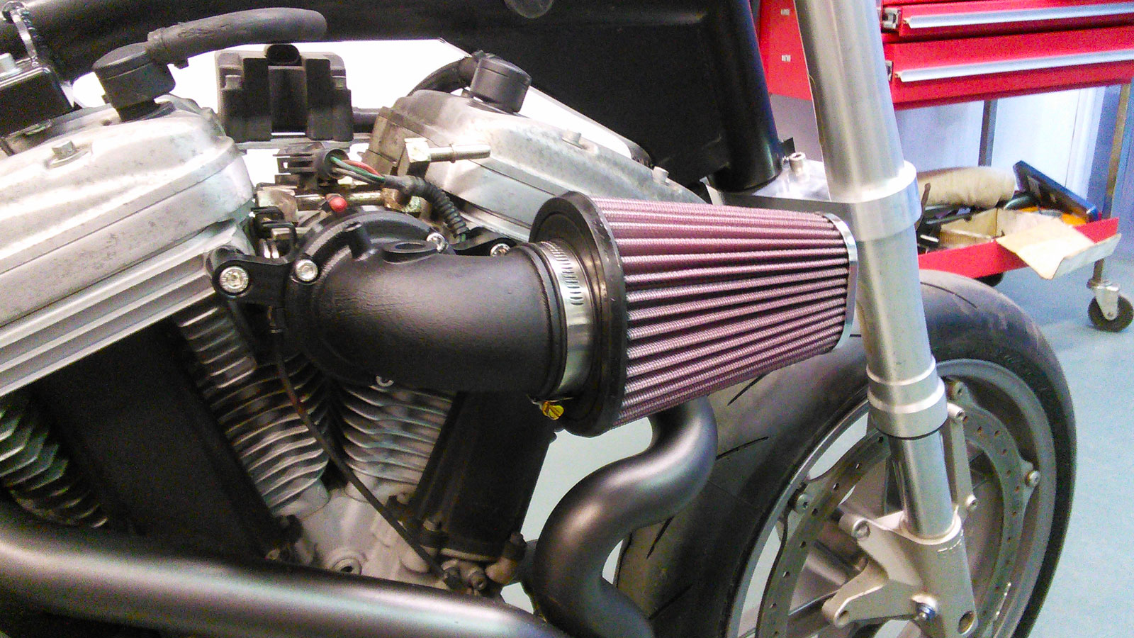 Engine + Air Filter Side Shot